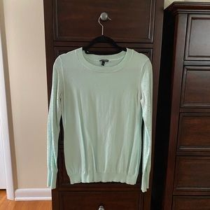 Express Mint Green Embellished Sweater